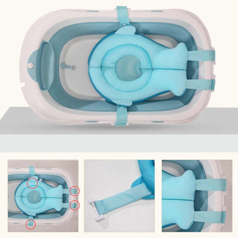 OLOEY коврик для ванной для новорожденных Нескользящая Детская ванна плавающая подушка для детского душа портативная подушка для воздуха безопасное сиденье для купания акула
