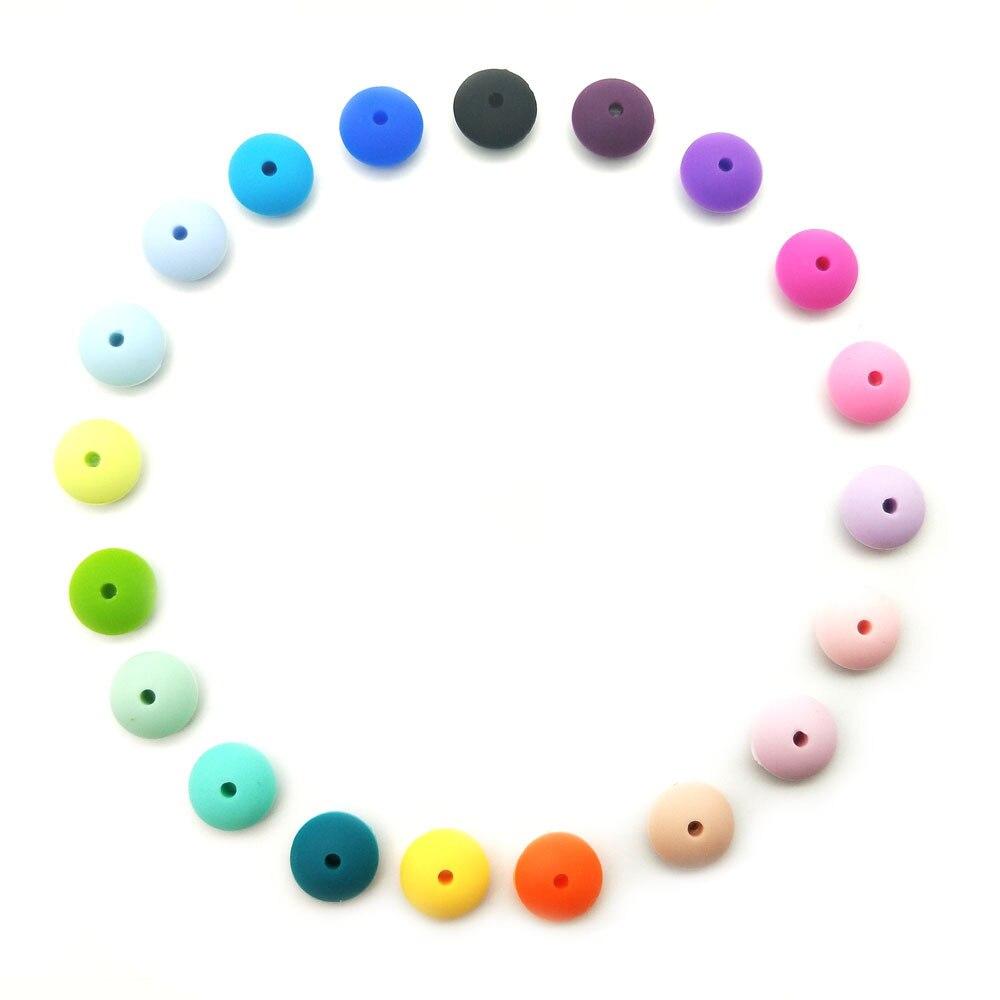 20 Stücke Zahnen Silikon Perlen Linsen Abacus 15*7mm Bpa Freies Zahn Diy Beißring Halskette Perle Schmuck Baby Spielzeug Baby Pflege Baby Beißringe