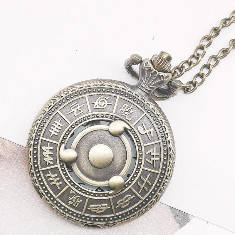 Fashion Vintage Black Analog Dial Roman Number Steel White Pocket Watch Necklace Pendant Watches For Gift