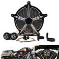 Preto Motocicleta CNC Sistema de Air Filter Cleaner Intake para Harley Sportster 883 1200XL 04-14
