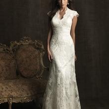 cecelle Vintage Lace Mermaid Wedding Dresses Cap Sleeves