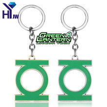 HEYu Fashion Movie Marvel DC Comic Super Hero Green Lantern Keychain Metal Key Chain Pendant Key Rings Chaveiro Fans Jewelry(China)