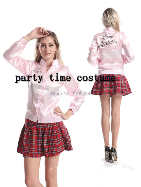 31a15c2872d Grease Pink Ladies Satin Jacket Lady 50 s Costume Frenchie Rizzo 890 ...