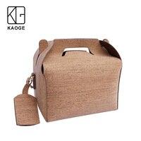KAOGE Vegan роскошная сумка для обеда ручной работы из натуральной пробки baobao Винтажные Сумки Торт Сумка через плечо сумки на плечо