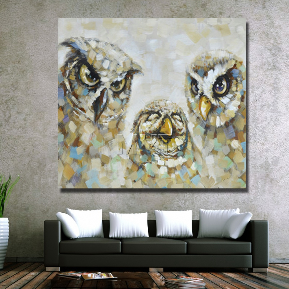 Owl Pictures Hand Paint Animal Oil Paintings For Living Room Decor Free  Shipping Cheap Canvas Wall Art Decor  In Painting U0026 Calligraphy From Home U0026  Garden ...