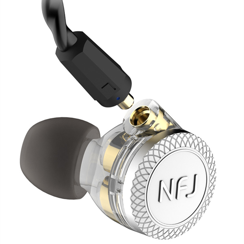 NFJ N300 PRO 3 Drive Unit In Ear Earphone Detachable Detach MMCX Cable DJ HIFI Monitor with microphone Headphones Heavy bass in Phone Earphones Headphones from Consumer Electronics