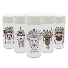 Kunststoff Isoliert Indische Tierkopf Zebra Niedlichen Kinder Wasserflaschen 300 ml Geschenk BPA FREI Personalisierten Mode Hirsche Pferd Drink