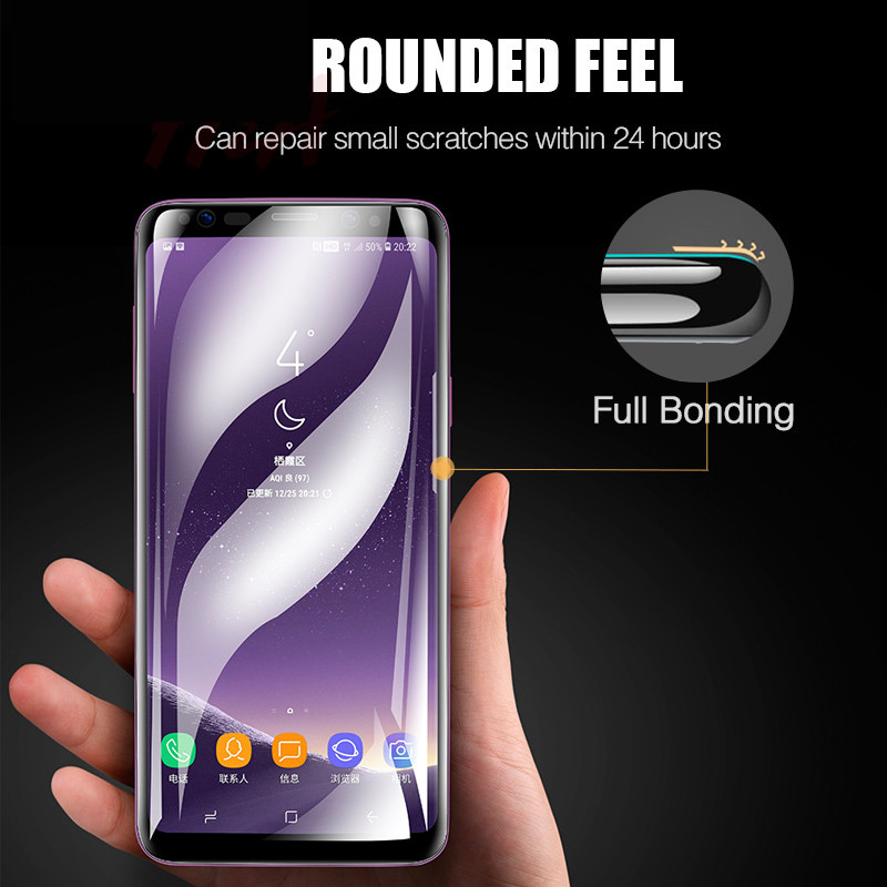 Image 3 - H&A 25D Full Curved Screen Protector For Samsung Galaxy S9 Plus S8 Plus Note 8 Not Tempered Glass For Samsung S10 Plus S10E Film-in Phone Screen Protectors from Cellphones & Telecommunications
