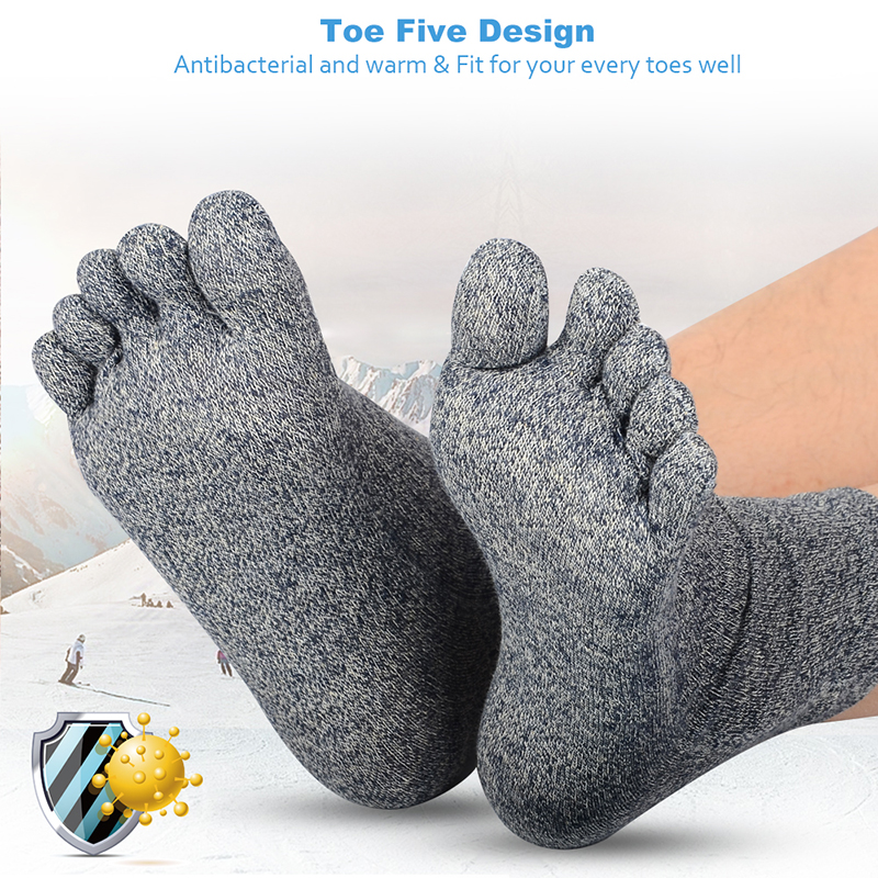 Underwear & Sleepwears Adaptable 1 Pair Mens Cotton Toe Sock Pure S Five Finger Socks Breathable 6 Colors In Pain