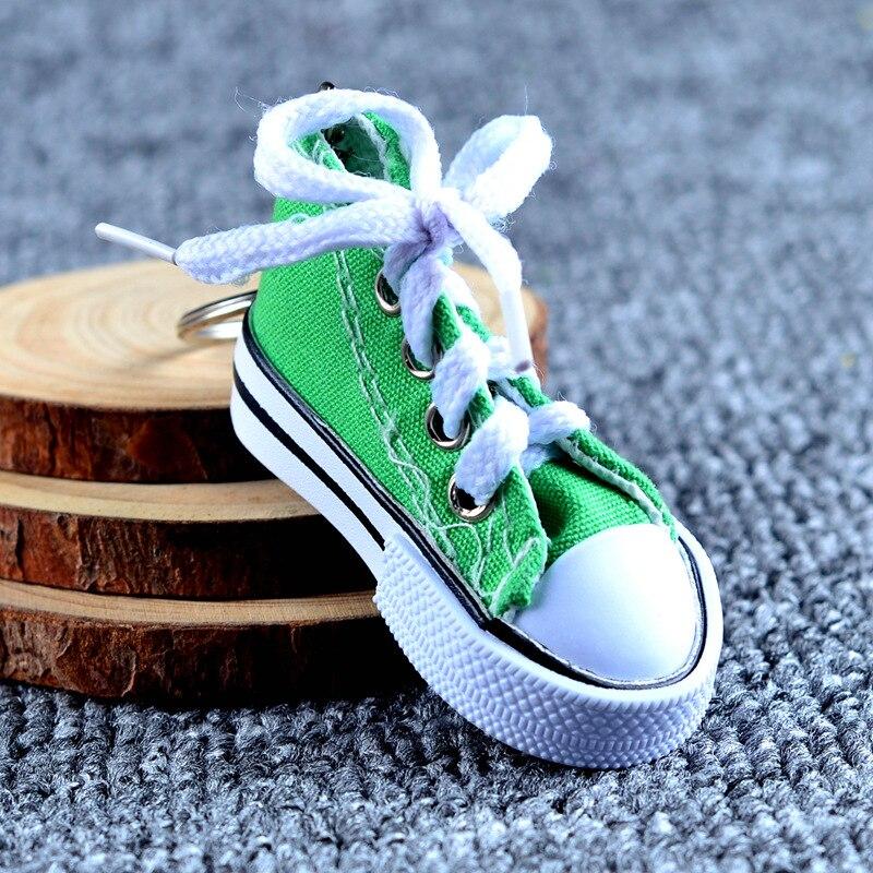 Холст обуви ключ пряжки Повседневный брелок на ключи в виде обуви цвет обуви брелоки металл аксессуары для сумки - 5