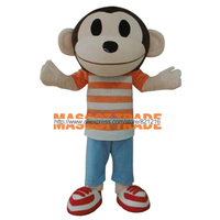 Monkey Adult Animal Cartoon Character Mascot Costume For Kids Birthday Party for Halloween party event