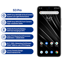 UMIDIGI S3 Pro Android 9.0 Mobile Phone 48MP+12MP+20MP Super Camera 5150mAh Big Power 128GB 6GB 6.3″ FHD+NFC Smartphone Dual SIM