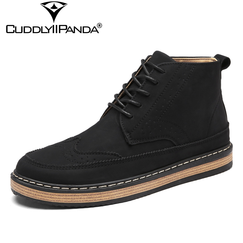 CuddlyIIPanda 2018 Spring Summer Top Quality Men Ank e Boots Breathable High Top Sneakers British Style Vintage Brogue Shoes peak sport men outdoor bas basketball shoes medium cut breathable comfortable revolve tech sneakers athletic training boots