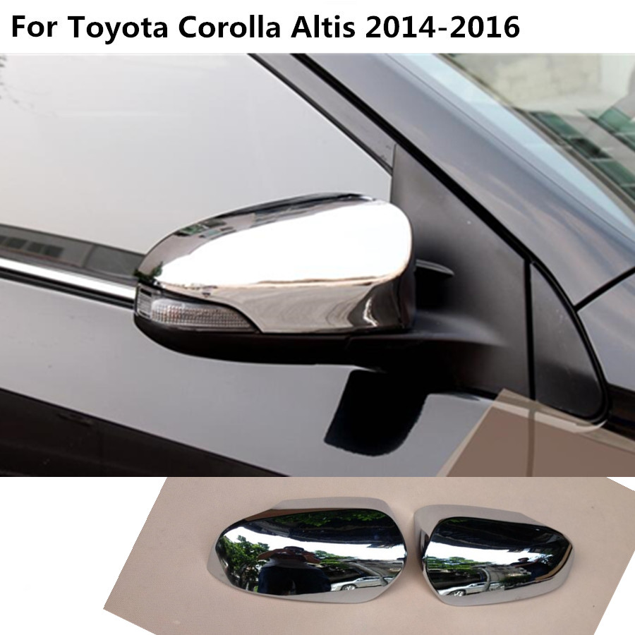 For toyota corolla altis 2014 2015 2016 abs chrome panel car sticks rear view rearview side