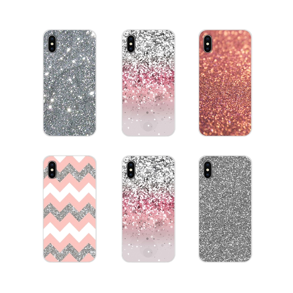 Cases Glitter-Art Note Transparent Silver Pink Enjoy S7-Edge Samsung Galaxy S5 Mini