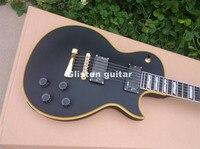custom shop LP electric guitar maple top, yellow binding