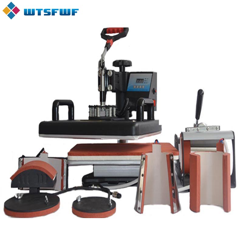 Wtsfwf Ny 30 * 38cm 7 i 1 Combo Heat Press Printer Sublimation - Kontorelektronik