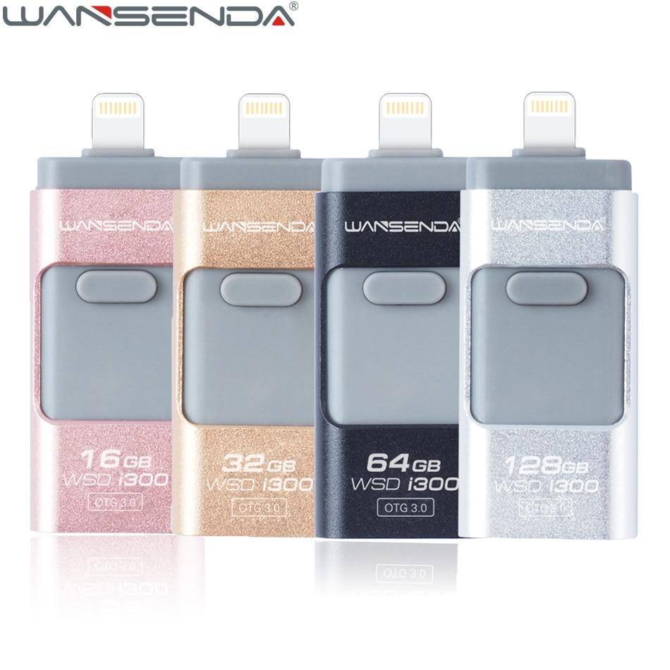 WANSENDA 3 in 1 USB Flash Drive for iPhone X 8 8 Plus 7 7 Plus