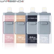 Wansenda 3 в 1 USB Flash Drive для IPhone X/8/8 плюс/7/плюс 16 ГБ 32 ГБ молния OTG накопитель USB 3.0 Memory Stick flashdisk