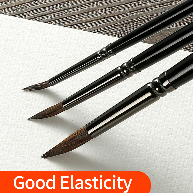 7Pcs New Animal 39 s Hair Watercolor Brush Set Round Gouache Pinceles Hook Line Painting Brush With Gift Box Pintura Art Supplies in Paint Brushes from Office amp School Supplies