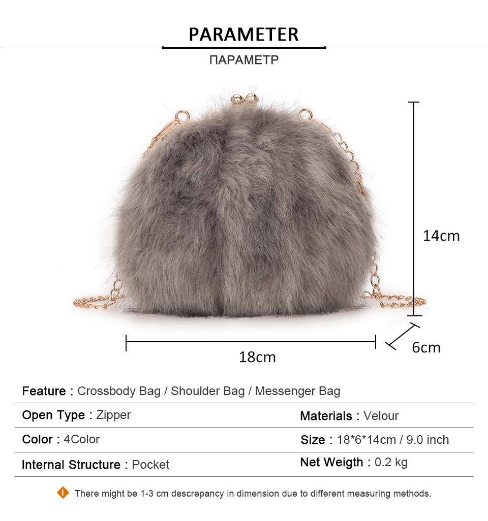 CASMOR Fashion Designer Real Fox Fur Women Messenger Bag Winter New ... 1663e09cf7370