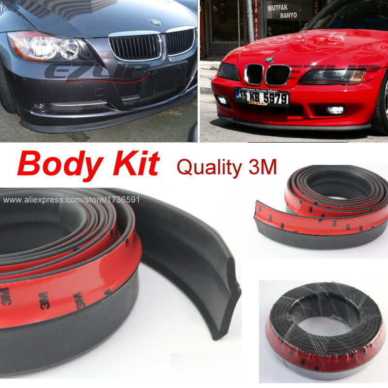 Body Front Side Back Bumper Spoilers Lip Lips For BMW 5 M5 F10 F11 F07 2010~2015 / For Car Tuning / Body Chassis Side Protection