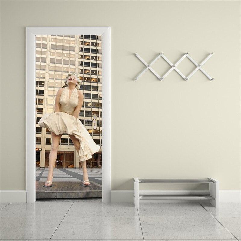Attractive Marilyn Monroe Wall Poster PVC Waterproof DIY Wall Art Imitation 3D Door  Sticker Creative Home Decor Wall Sticker   TakoFashion   Womenu0027s Clothing U0026  Fashion ...