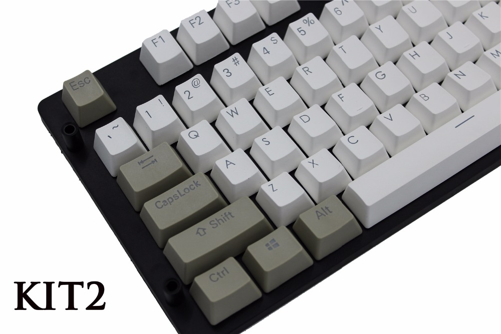 MP Retro Keycap PBT Wit en grijs Double Shot Backlit Cherry MX - Computerrandapparatuur - Foto 4