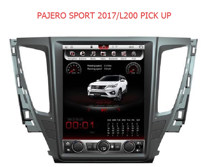 Otojeta Vertical IPS 12.1 Quad Core Android 7.1 Car DVD player For mitsubishi pajero sport 2017 L200 pick up stereo headunit