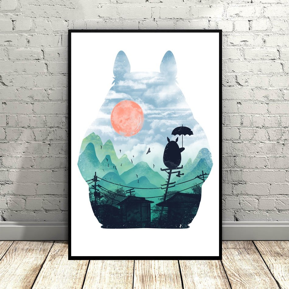Studio Ghibli Collection Art Canvas Poster Hayao Miyazaki Movie poster Wall Pictures for Living Room No Frame image