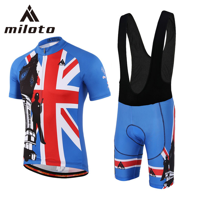bbfde0b65 Miloto Short Sleeve Cycling Jersey Sets ropa ciclismo Team Bicycle Sports  wear Summer Breathable Gel Shorts