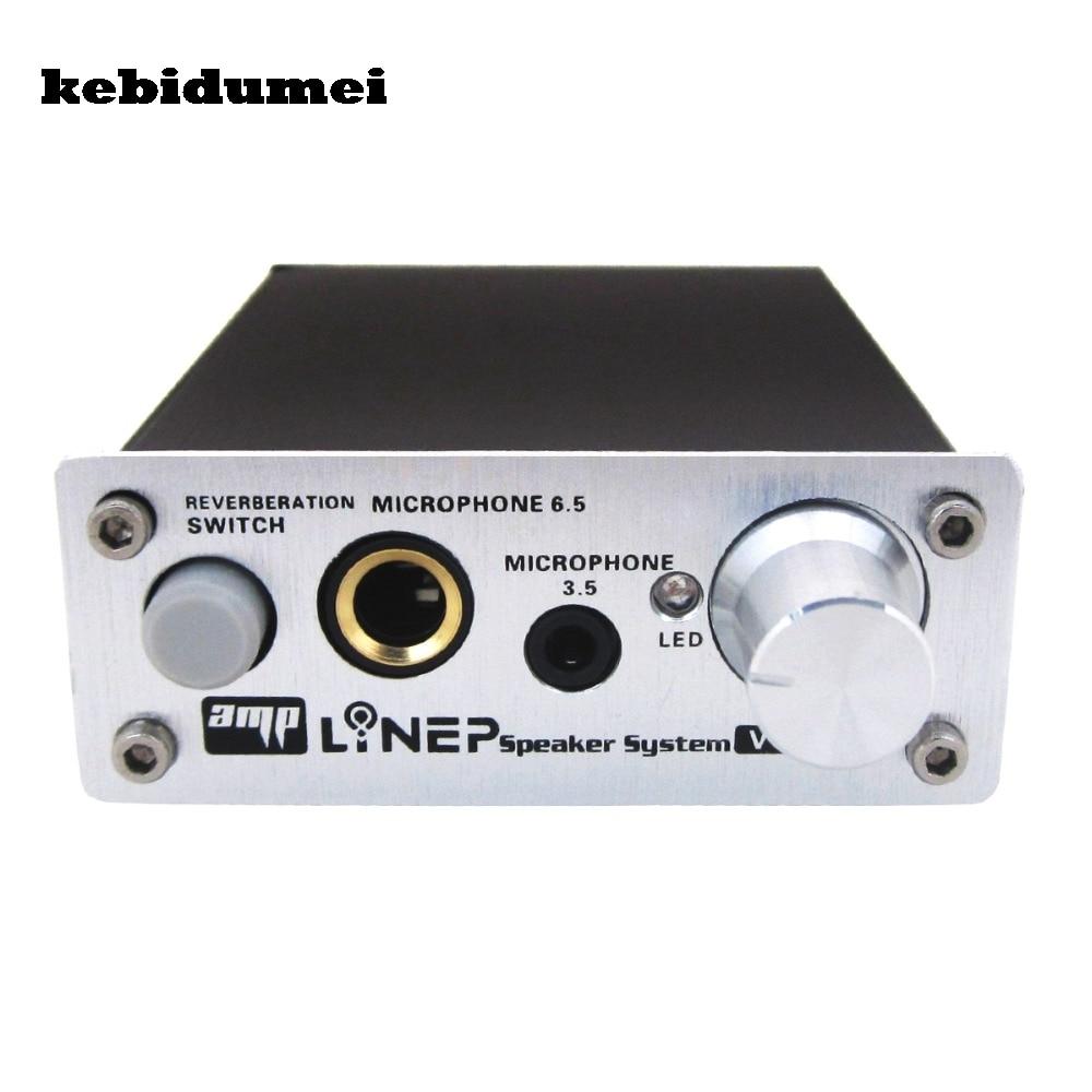 Kebidumei 2017 Микрофон Звук Усилители домашние ультра компактный 2 канала ПК микрофон Проводной Звук Усилители домашние аудио слот для караоке