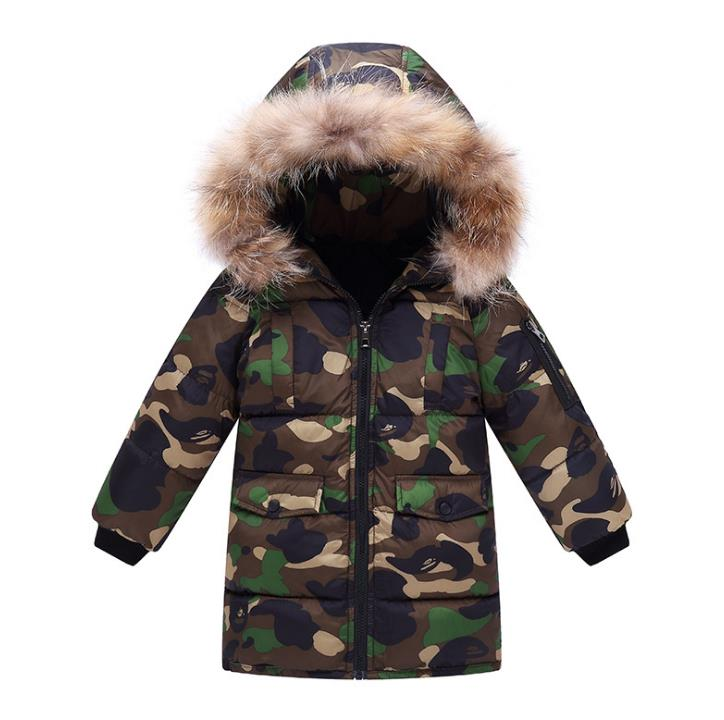 New 2018 Fashion Children Winter Jacket Girl Winter Coat Kids Warm Thick Fur Collar Hooded long down Coats For Teenage 16pcs 14 25mm carbide milling cutter router bit buddha ball woodworking tools wooden beads ball blade drills bit molding tool