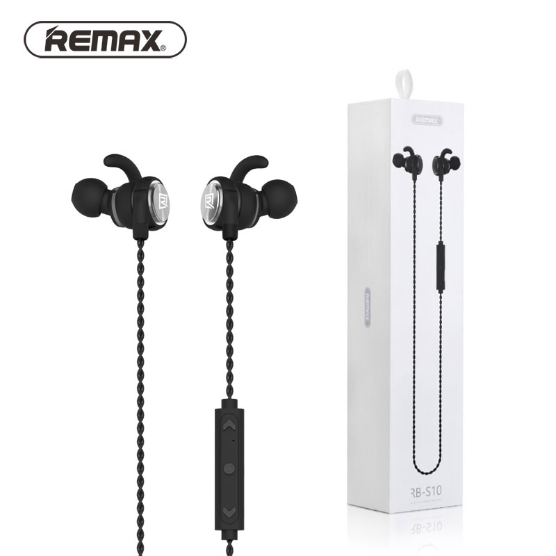 REMAX RB-S10  Wireless Bluetooth 4.1 Stereo Hanging In-ear Headphone for Xiaomi iphone Samsung remax bluetooth v4 1 wireless stereo foldable handsfree music earphone for iphone 7 8 samsung galaxy rb 200hb