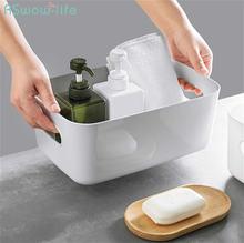 Пластиковая корзина для ванной туалетной косметики кухни Настольная
