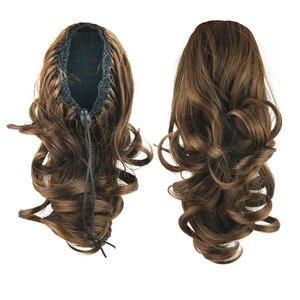 Накладные волосы Soowee, коричневые, черные, волнистые, синтетические, хвостики, мой маленький конский хвостик, заколки для наращивания, наклад...