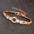 Wonderful design jewelry 13 Style Gold Filled charming Opal Austrian crystal Bracelet for Women gifts wholesale