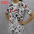 Escuela de La Camiseta Mujeres Tops Vetements Fresco Camisetas Para Mujeres Roupas Blusa Harajuku Camisa Mujer 2016 WXC Polerones