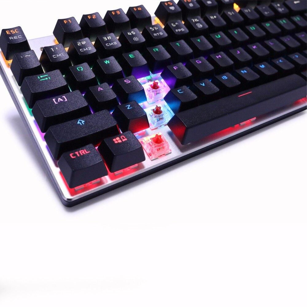 ZERO mehaaniline klaviatuur 87/104 Hämarikuvastane sinine punane - Arvuti välisseadmed - Foto 6