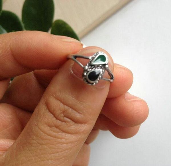925 Sterling Silver Anillo del Dedo del Pie Bola centro de clúster de Forma de Flor Pie Ajustable