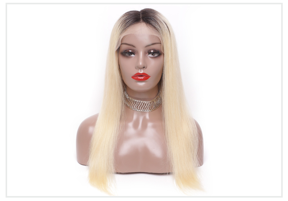 ombre blonde Lace Front Wig5