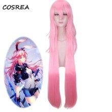 COSREA Honkai Impact 3 Yae Sakura Bronya Zaychik Curly Ponytails Cosplay Costume