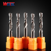 Weito 5A 10pcs  6mm diameter Carbide ball nose end mill two sprial Ball milling cnc router bits for Wood and MDF cutting