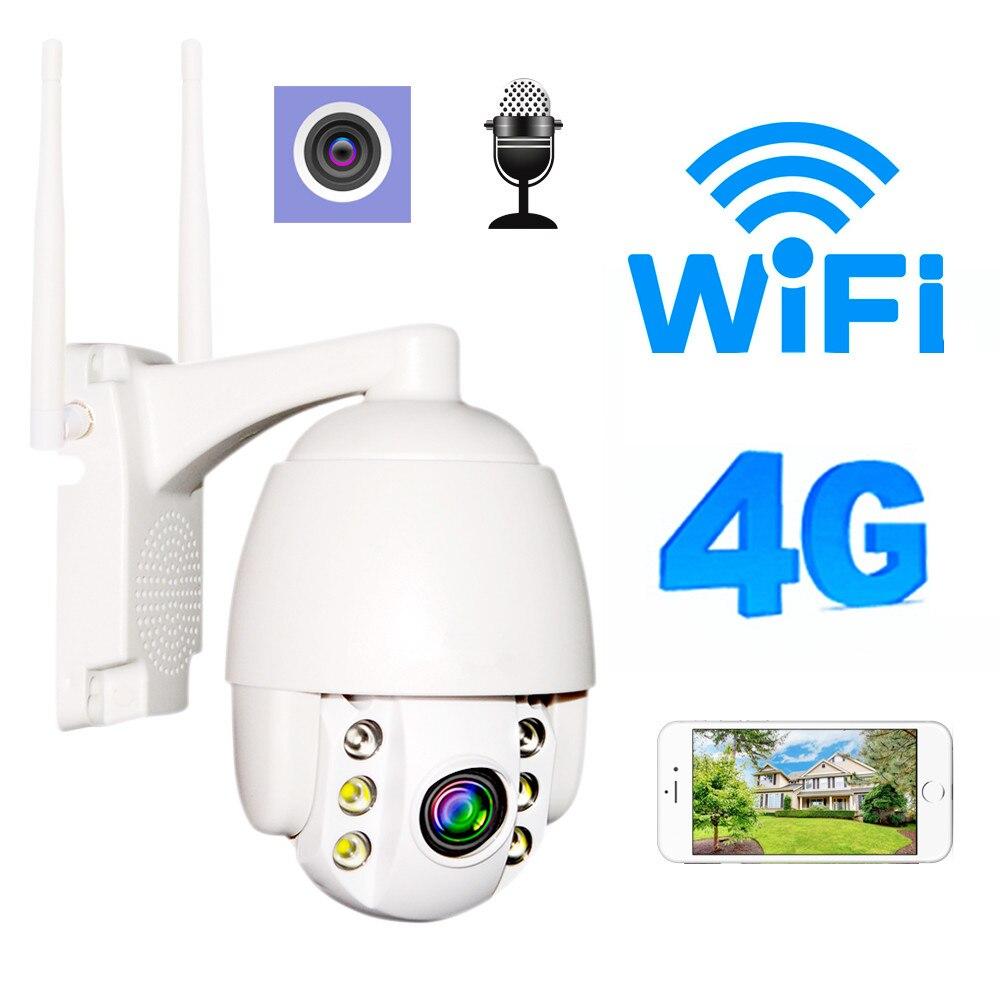 3G 4G Wifi caméra 1080 P plein air 5x Zoom optique bidirectionnel Audio vitesse dôme Mini caméra IP prise en charge carte SIM Surveillance Onvif