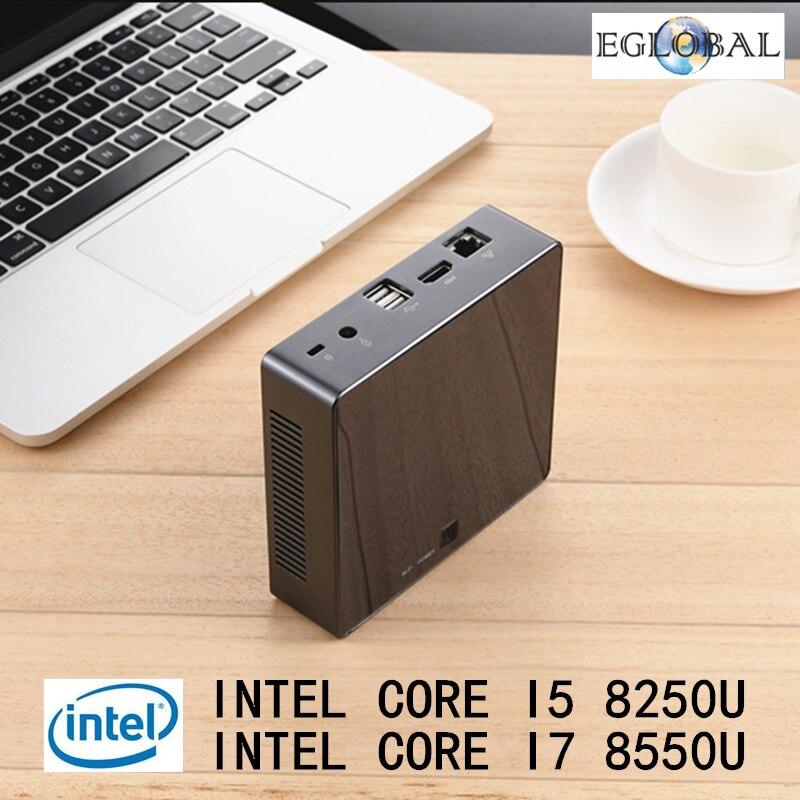 Newest Mini PC 8th Gen Intel Core i7 8550U i5 8250U Win10 Pro Quad Core DDR4