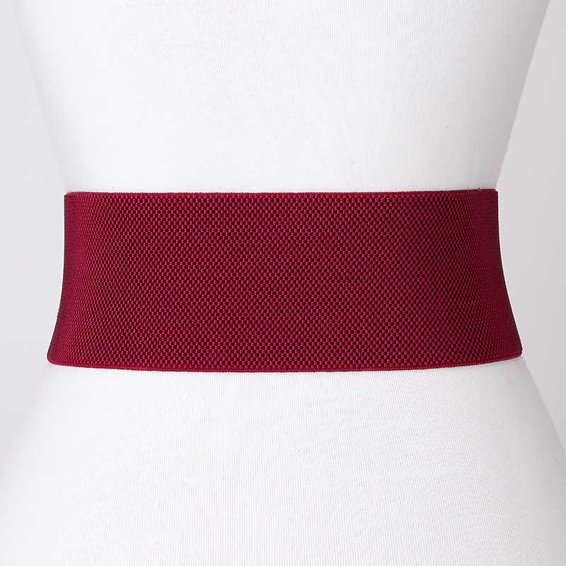 Осенне-зимнее простое эластичное женское платье с широким украшением и эластичным поясом, длинная рубашка, черный, красный цвет, уплотнение талии