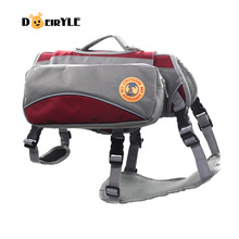 Pet Outdoor Portable Dual-use Dog Backpack Harness Pet Dog Carry Bag Travel Bag For Training Hiking
