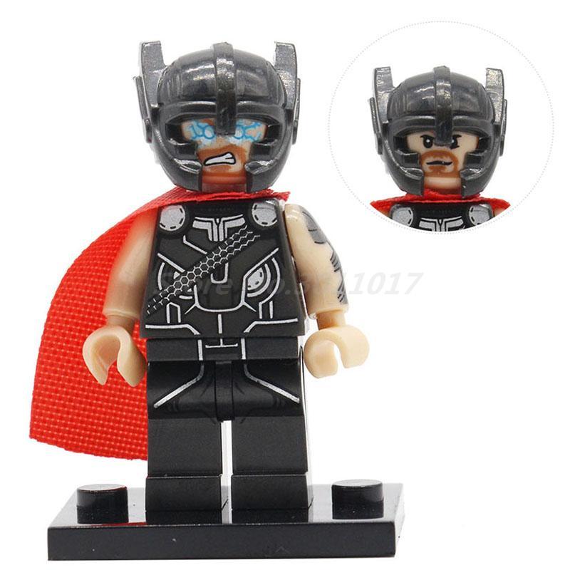 Thor Marvel Superhero Avengers Mini Dolls Single Sale Batman Ultron Building Block Model Sets Lepin Brick