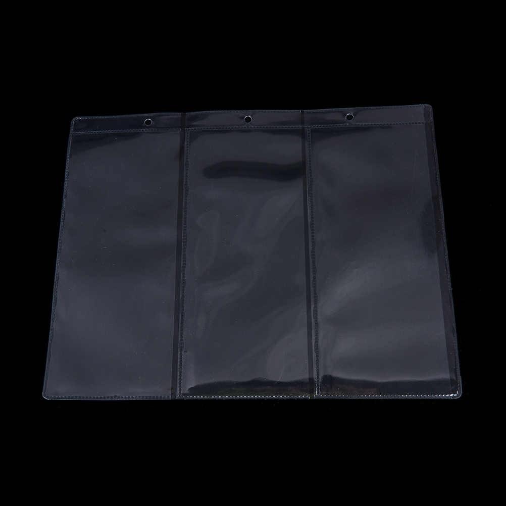 3 linea/Pagina banconote loose-leaf ampolle di Moneta Soldi detentori di pagina di soldi di carta IN PVC trasparente coin album 180 millimetri x 80 millimetri
