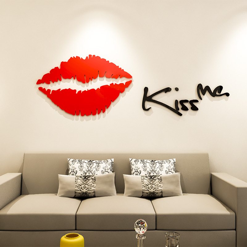 3D Wallpaper Crystal Love Acrylic Self Adhesive Stereo Wall Sticker Bedroom Living Room TV Wall Wall Decorative Mural Kiss me 3d wall wallpaper bedroom tv sofa background high definition self adhesive sticker